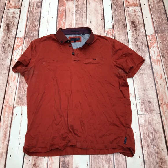 8669e8c363acb Ted Baker Rust Polo. M 5b0255de8290af5d9d5a8e24. Other Shirts you may like. Ted  Baker Men s ...